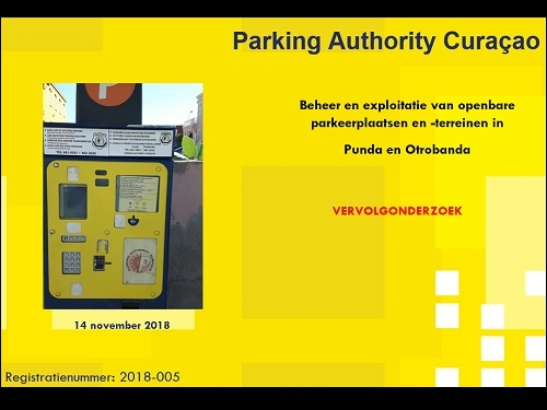 Video uitkomsten onderzoek Parking Authority Curaçao